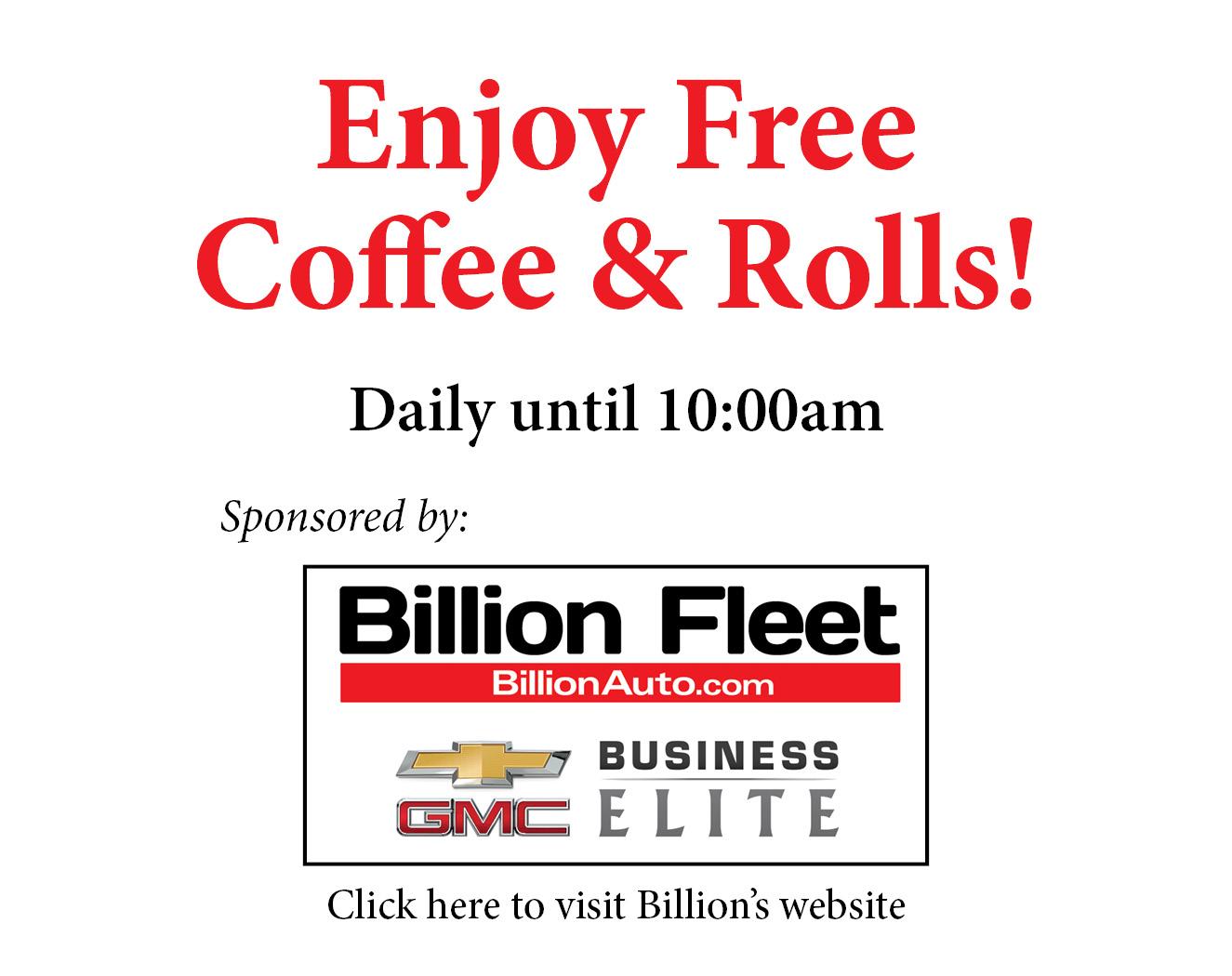 Free Coffee  Rolls highlight box